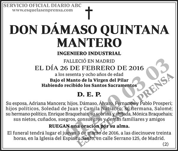 Dámaso Quintana Mantero